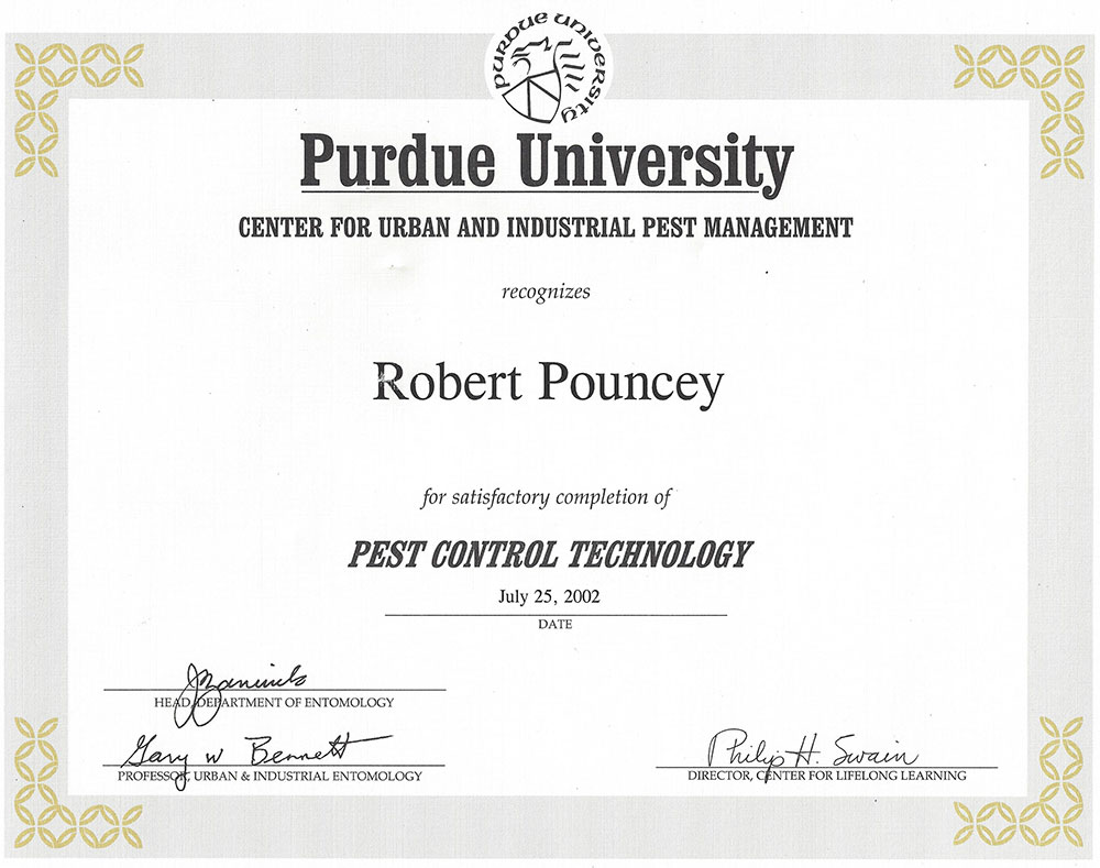 Pest Control Technology Certificate